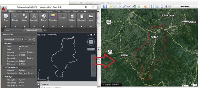 Como importar um arquivo do Autocad para o Google Earth